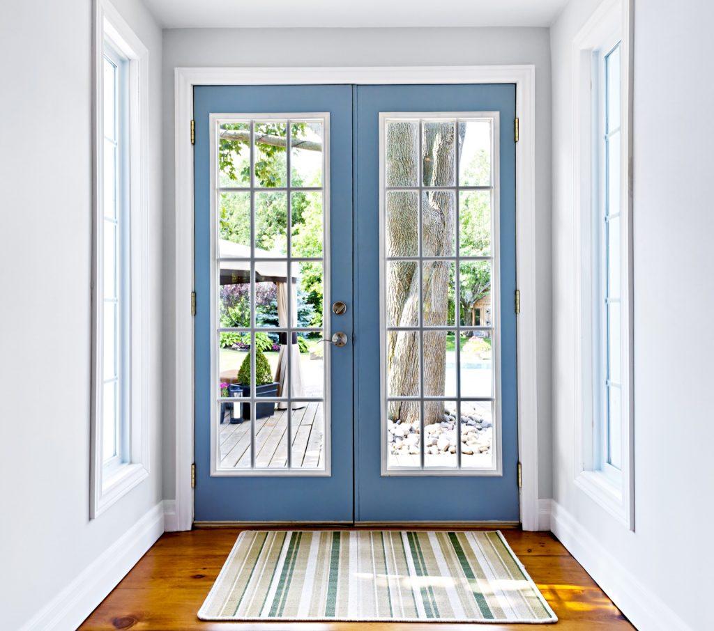Front door to modern home